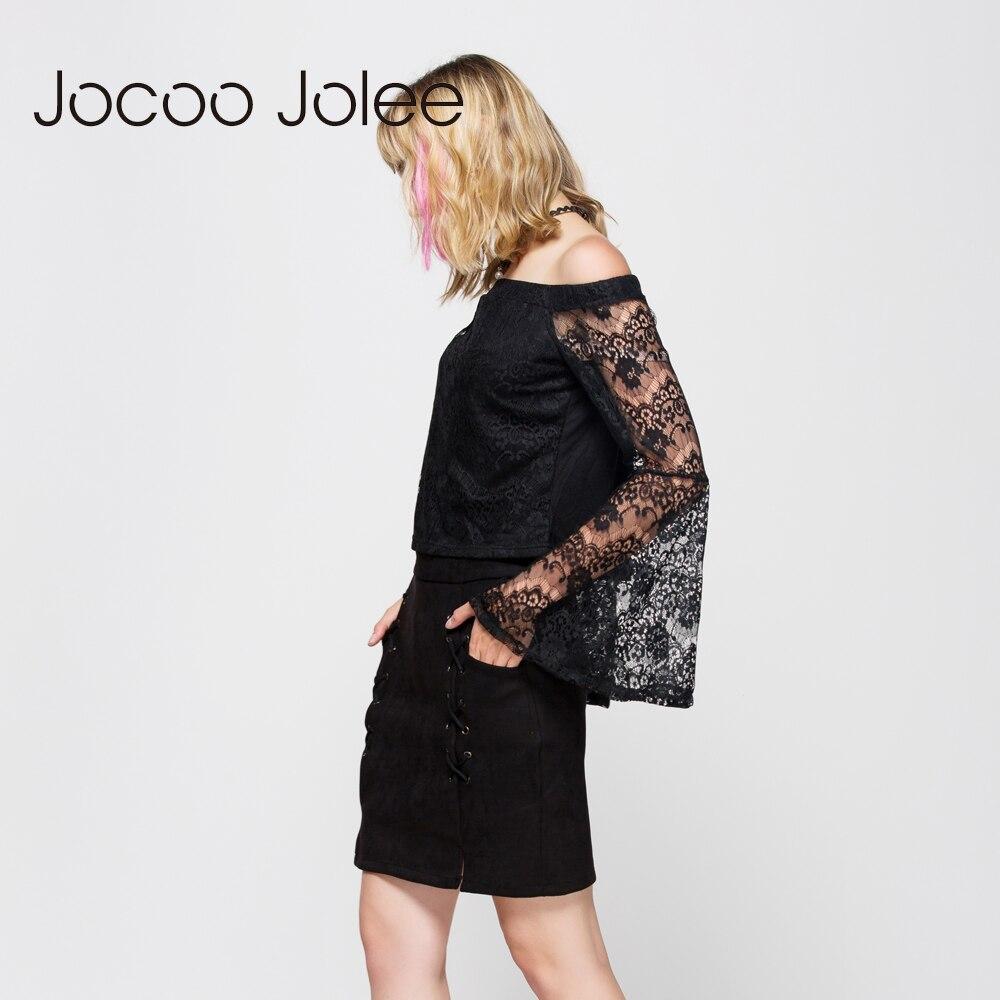 Jocoo Jolee Toamnă Lace Up Piele de piele de piele Creion Iarnă - Îmbrăcăminte femei - Fotografie 5