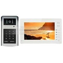DIYSECUR 1024×600 7 pulgadas de ALTA DEFINICIÓN TFT LCD Monitor en Color Video de La Puerta Teléfono Video Intercom Timbre 300000 Píxeles Cámara de Visión Nocturna