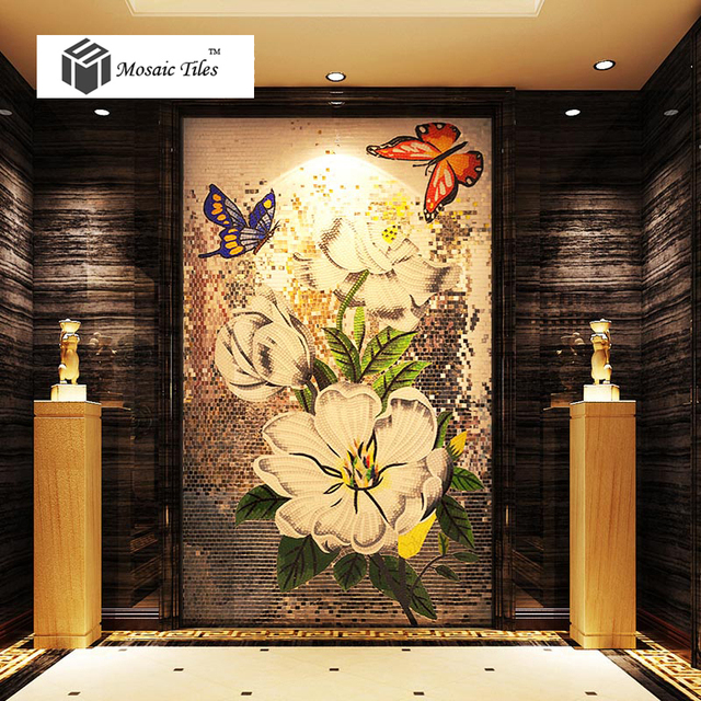 Bisazza mosaics flower picture wall tile backsplash mosaic art for ...
