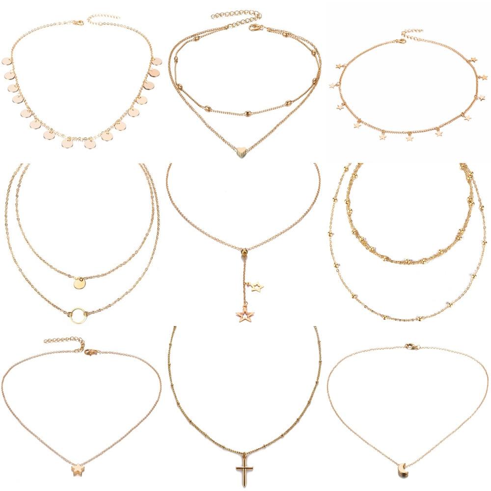 Heart Necklace Short-Chain Choker Star Pendant Ethnic Boho IFMIA Bohemia Wholesale Women