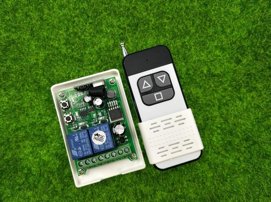 DC12V 24V 36V 48V 2CH Wireless remote control switch Motor forward inversion forward reverse stop for