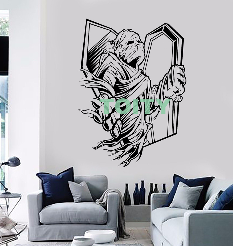 Vinyl Wall Decal Mummy Zombie Horror Coffin Sticker Home