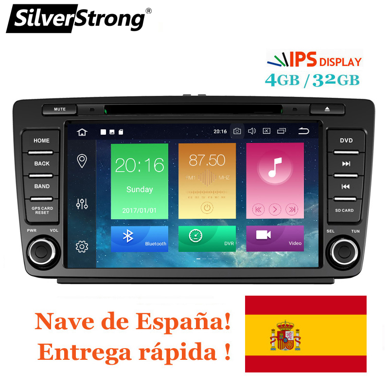 SilverStrong IPS Car 2din Octavia Android8.0-9.0 8inch CAR DVD for Skoda Octavia 2 A5 DSP with 4G+32G CANBUS Octavia2 DAB+ OBDSilverStrong IPS Car 2din Octavia Android8.0-9.0 8inch CAR DVD for Skoda Octavia 2 A5 DSP with 4G+32G CANBUS Octavia2 DAB+ OBD