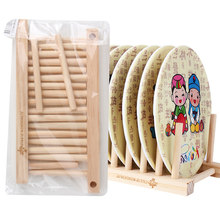 1Pc Foldable Wooden Dish Rack Drainer Kitchen Storage Rack Plate Cups Stand Display Holder Drying Rack Kitchen Storage(China)