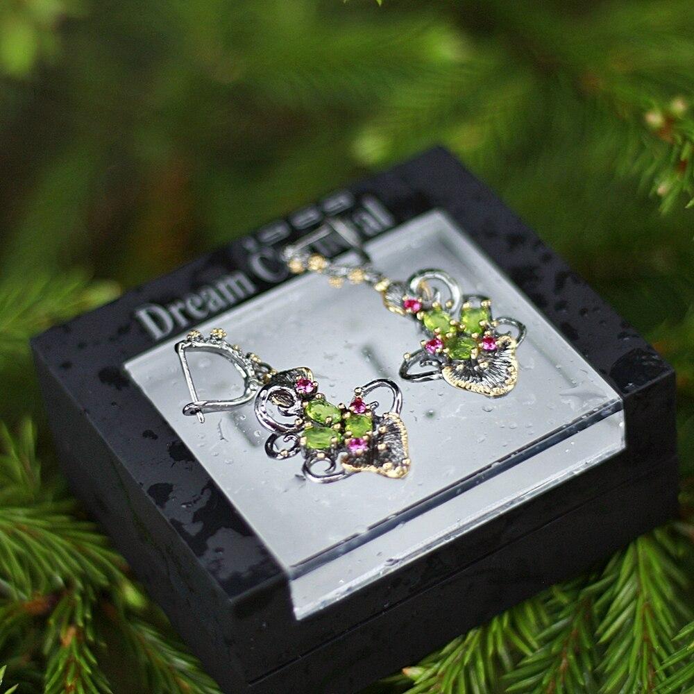 WE3873 flower earrings women vintage gothic jewelry (1)