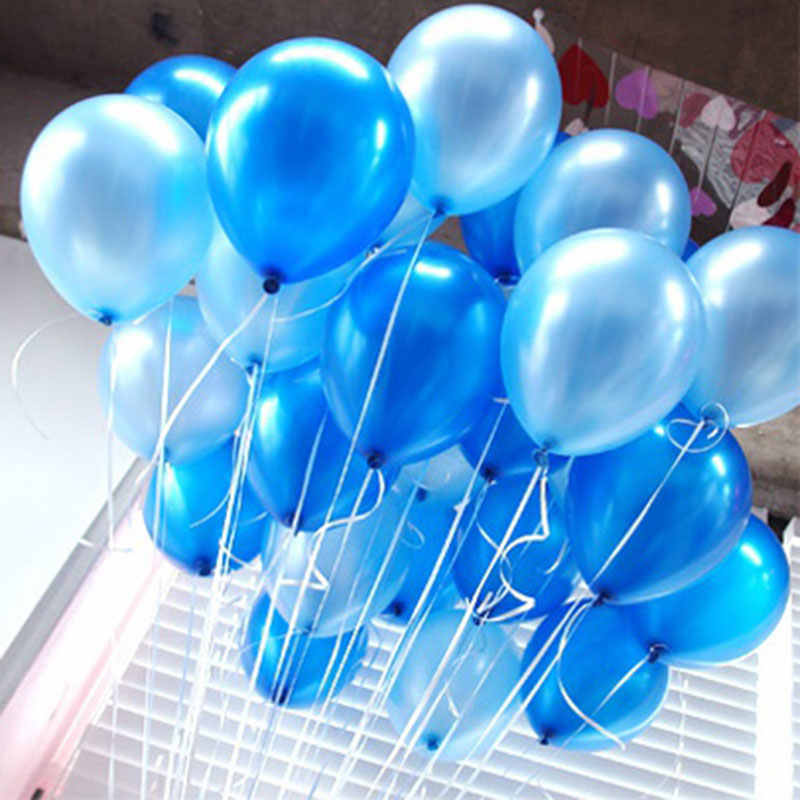 20 Pcs/Set 2 Color Air Balloons Latex 10 Inch Solid Color Inflatable Circular Balloon For Wedding Birthday Party Decoration E2S