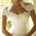 Romantic Ivory Crystal Beaded Lace Wedding Boleros 2017 New Fashion Formal Women Bridal Jackets Wraps Wedding Accessories B204