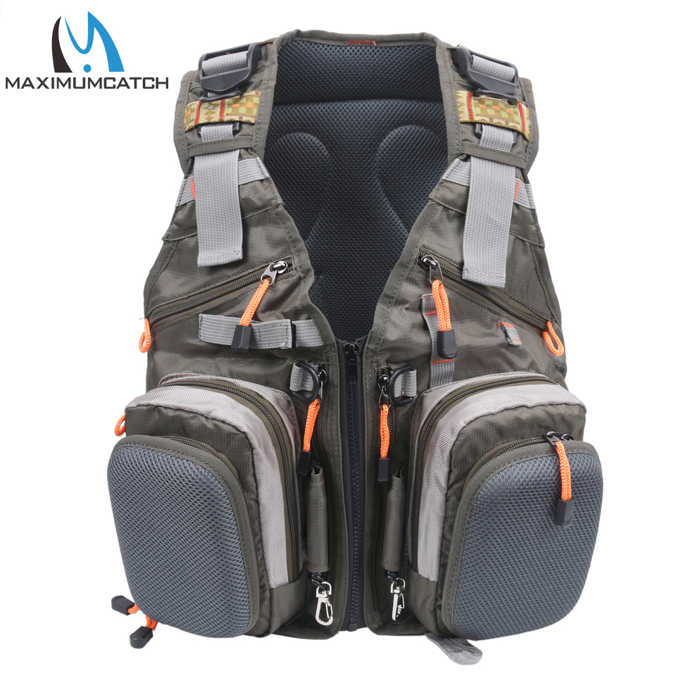 Maximumcatch Fly Fishing Vest With Free Size Fishing Backpack And Vest Combo недорго, оригинальная цена