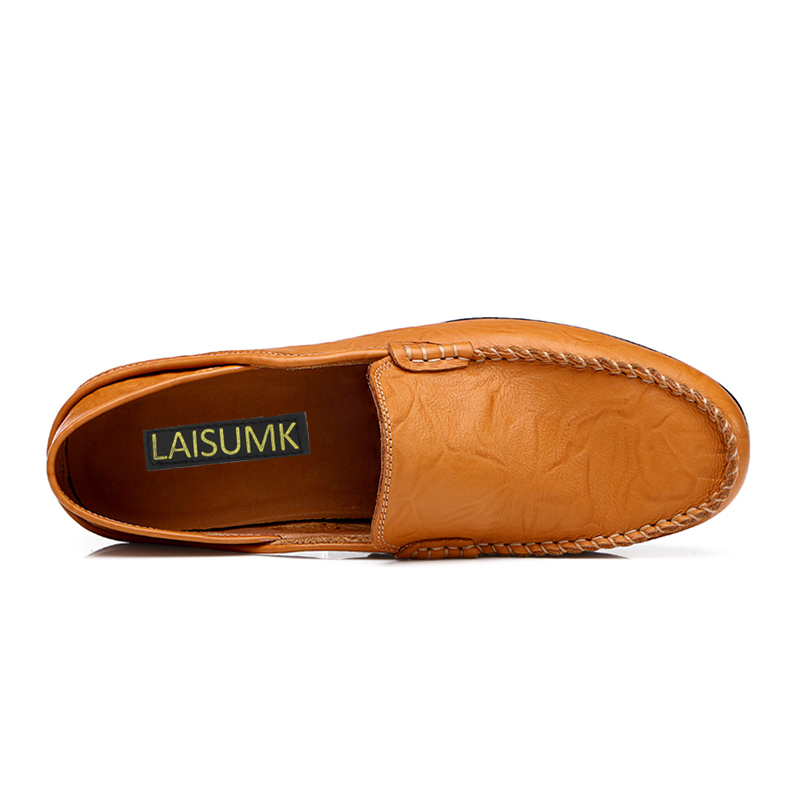 En Conception Conduite Black 2019 yellow De Brown Appartements Chaussures Laisumk Hommes Fond Cuir Mou Occasionnels Confortable La À Main Homme Green blue 7TXr6Tq