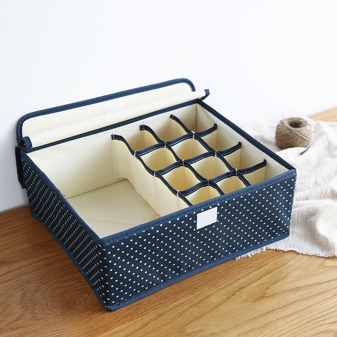 Clothing Storage Boxes Underwear Bra Storage Box Drawer Organizers Underwear Scarfs Socks Bra Clothing Organizer Container Dot ...