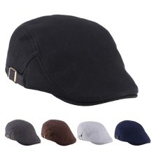 Men Women Duckbill Fashion Classic Beret Cabbie Cowboy Flat Hat Golf Driving Cap