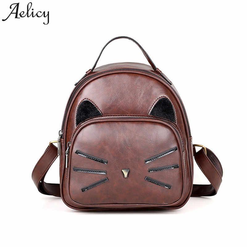64bdd8162d5 Aelicy Women Backpack Travel Rucksack Ladies Backpack cute cat girls School  Bag mochila feminina dropshipping hot