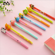 The new candy color ultra of cartoon animal silica gel pen students learning supplies special dry office