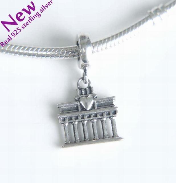 New Berlin Brandenburg Gate Charms Pendants Vintage 925 Sterling Silver Travel Charm Beads Diy Brand Logo