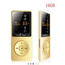 Nuevo Llega Ultrafino X02 16 GB MP3 Del Altavoz Del Jugador de 1.8 Pulgadas de Pantalla se puede Jugar 80 horas Con FM reproductor de música mp3 jugador del deporte