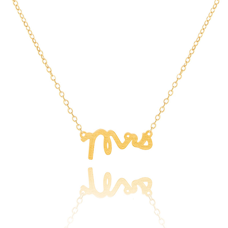 2016 fashion jewelry mrs pendant necklace stainless steel gold chain for men silver letter charm necklace