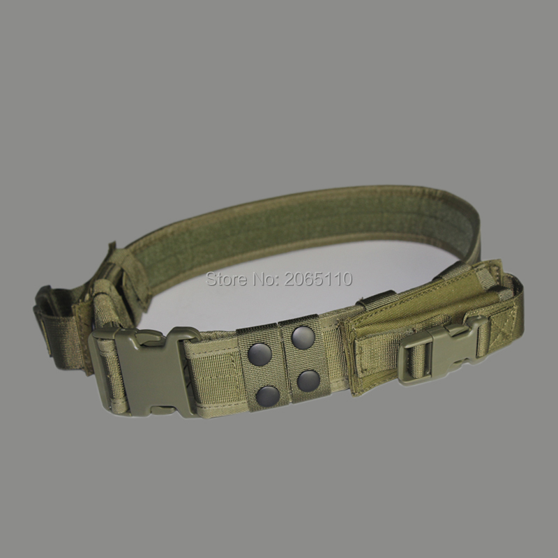 Wholesale Hight Quality Tactical Belt Adjustable Outdoor Hunting Cs War Games Belt Men Airsoft Waist Support 2 Pouches 3 Color|pouch pouch - title=