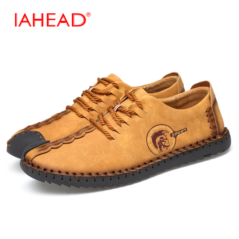 Casual Fashion Comfortable Men Flat Shoes Lace-up Solid Breathable Lace Up Shoes Men Causal Loafers MS201 men casual shoes lace up mesh men outdoor comfortable shoes patchwork flat with breathable mountain shoes 259
