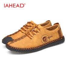 Casual Mode Komfortable Männer Flache Schuhe Lace-up Solide Lace Up Atmungsaktive Schuhe Männer Kausalen Slipper MS201