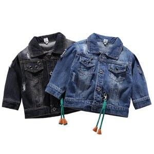 Image 3 - Children Mickey Denim Jacket Coat 2020 New Spring Autumn Kids Fashion Outerwear Boys Girls Hole Cartoon Jeans Coat For 2 7 Yrs