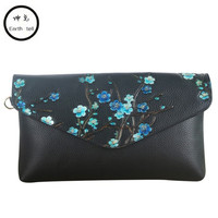 Fashion Genuine Leather Plum Flower Pack Shoulder Bag Crossbody Package Clutch Women Designer Wallet Chain Handbags Bolsos Mujer