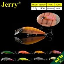 Jerry 5cm ultralight fishing lures micro minnow lure hard bait slow sinking jerkbait crankbait trout bass lures BKK hooks