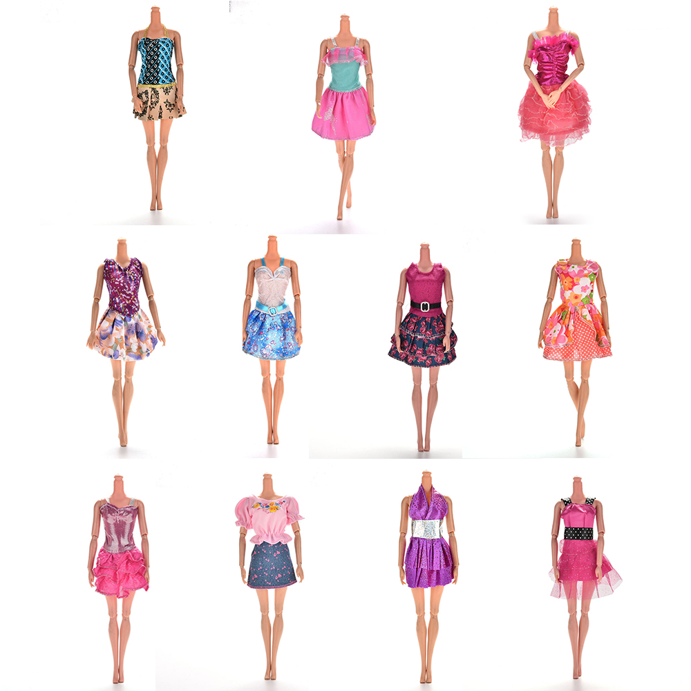 Multi Styles Pick Handmade Doll Dress For  Fashion Summer Party Priness Dress For  Dolls Clothing One Piece