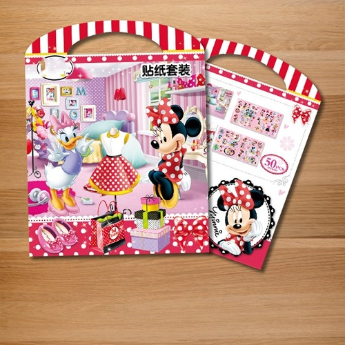 NEW Mickey Mouse Minnie My Little Horse Book sticker diy for kids rooms decorative sticker adesivo removable vinyl home wallpape
