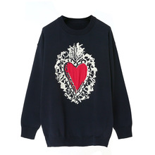 High Quality New Autumn 2018 Fashion O-Neck Long Sleeves Sweetheart  Printing Sweater Casual Pullovers 22c85e59c