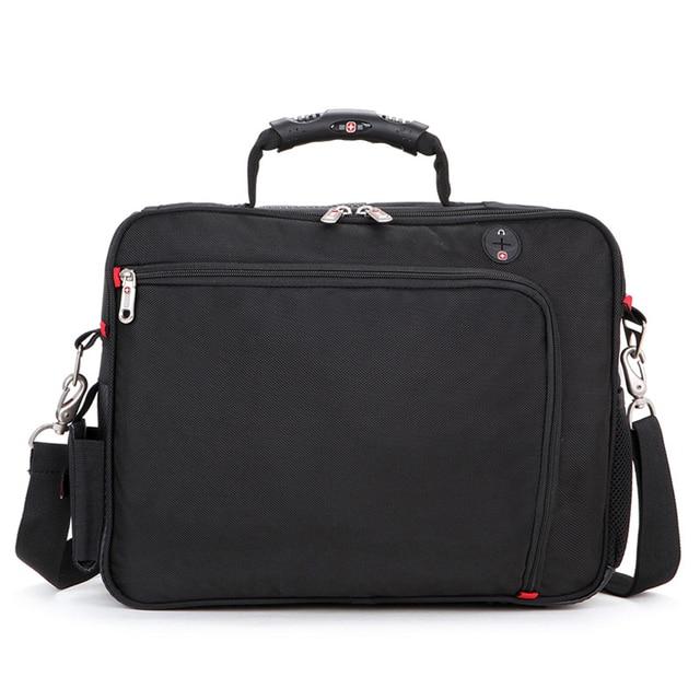 High Qual Fashion brand  Waterproof 15″ Laptop Portable Polyester bag Men and Women Laptop Messenger Business Bag