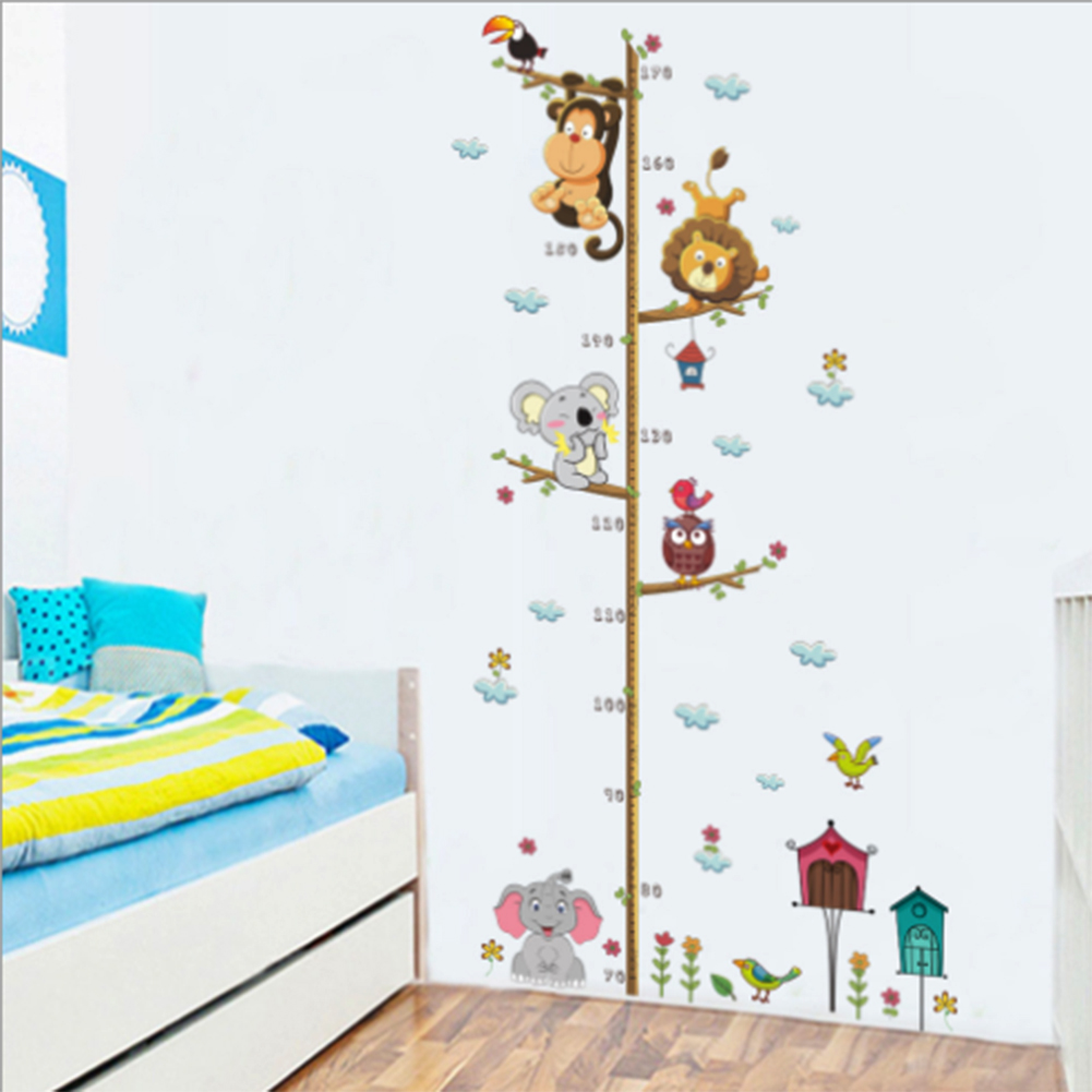Cartoon Animals Wall Sticker For Kids Living Rooms Children Baby Nursery Wallpapers Bedroom Decoracion Home Decor In Stickers From Garden On