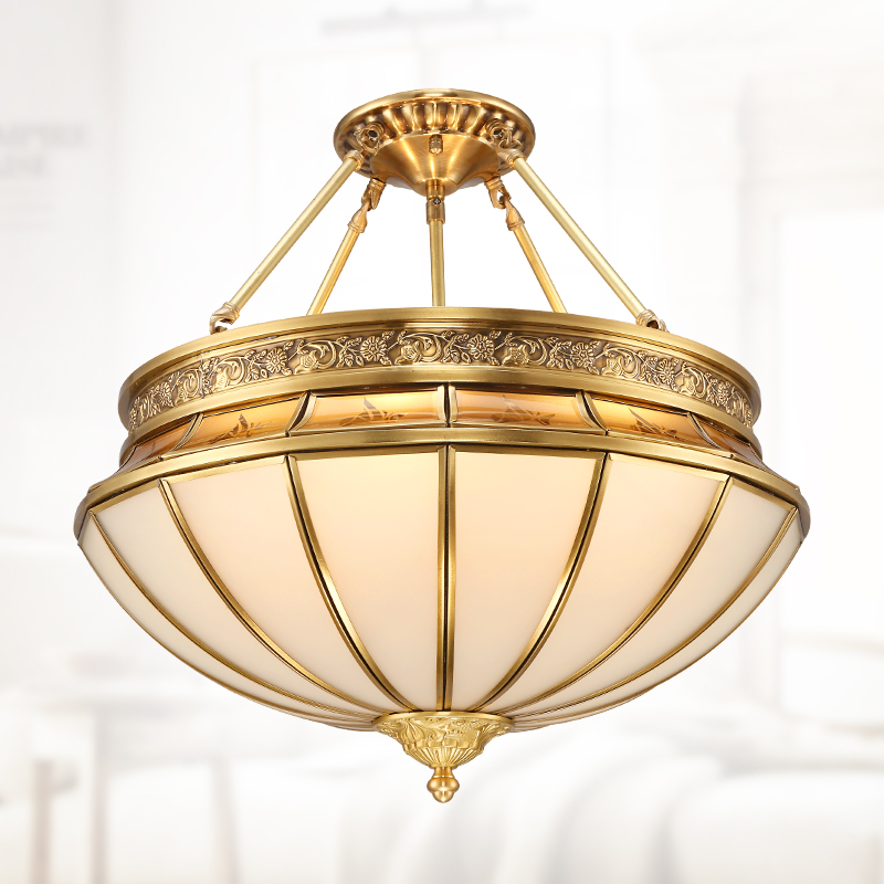 Chinese classical Pendant Lights full copper lamp round dining room bedroom lamp lighting copper pendant lamp ZA921530 a1 master bedroom living room lamp crystal pendant lights dining room lamp european style dual use fashion pendant lamps
