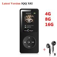 IQQ X02 Lossless Digital Hifi Flac Sport Audio Mp 3 Screen Music Mp3 Player With Headphones