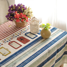 Literature Home decor Blue Vintage writing desk beige Multisize Beauty Red tablecloth cotton table cover dining natural