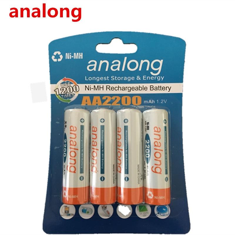 Analong 2a AA  Rechargeable Battery 1.2V AA2200mAh Ni-MH Pre-charged Rechargeable Battery 2A Baterias For Camera