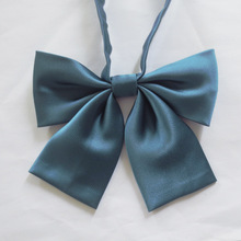 New Japanese solid color bow tie sailor uniforms clothes pure Obscure stripes (Elastic band)