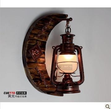 Antique wall lamp vintage living room bedroom bedside lamp LED lighting stair lamps lantern - 3