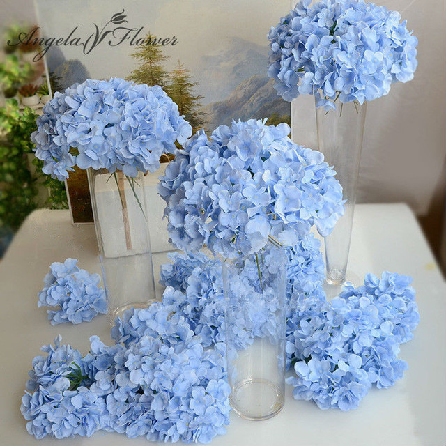 11pcs/lot Amazing colorful decorative flower for wedding party  luxury artificial Hydrangea silk DIY flower decoration for home