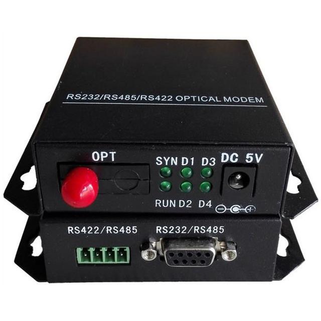 Grado Industrial RS485 / 422/232 serie módem de fibra 3 1 óptica multiplexor de fibra única FC 2 unids