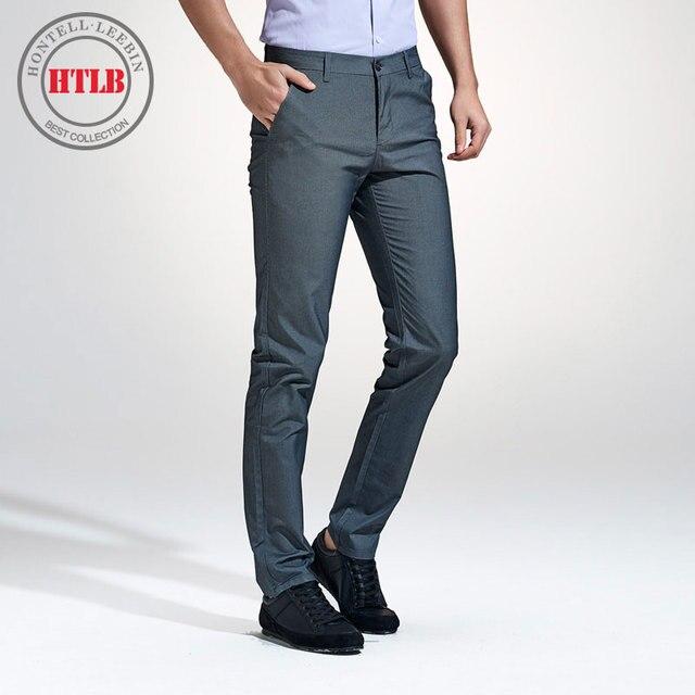27fd9af612f HTLB 2018 New Spring Autumn Men Business Casual Pants Men Brand Clothing  Denim Trousers Men Fashion Casual Cotton Pants Men