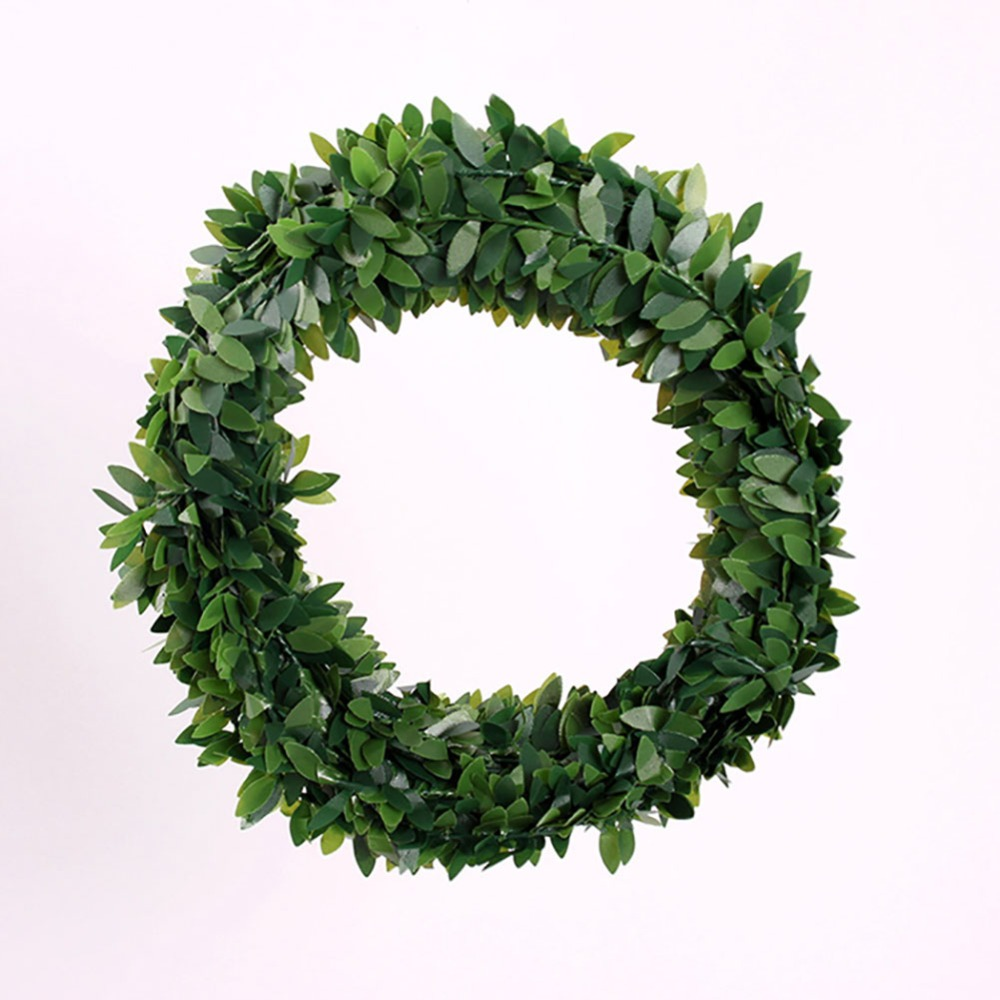 75 meters small leaveschristmas leaves artificial christmas wreath garland unlit in tree toppers from home garden on aliexpresscom alibaba group - Small Christmas Wreaths