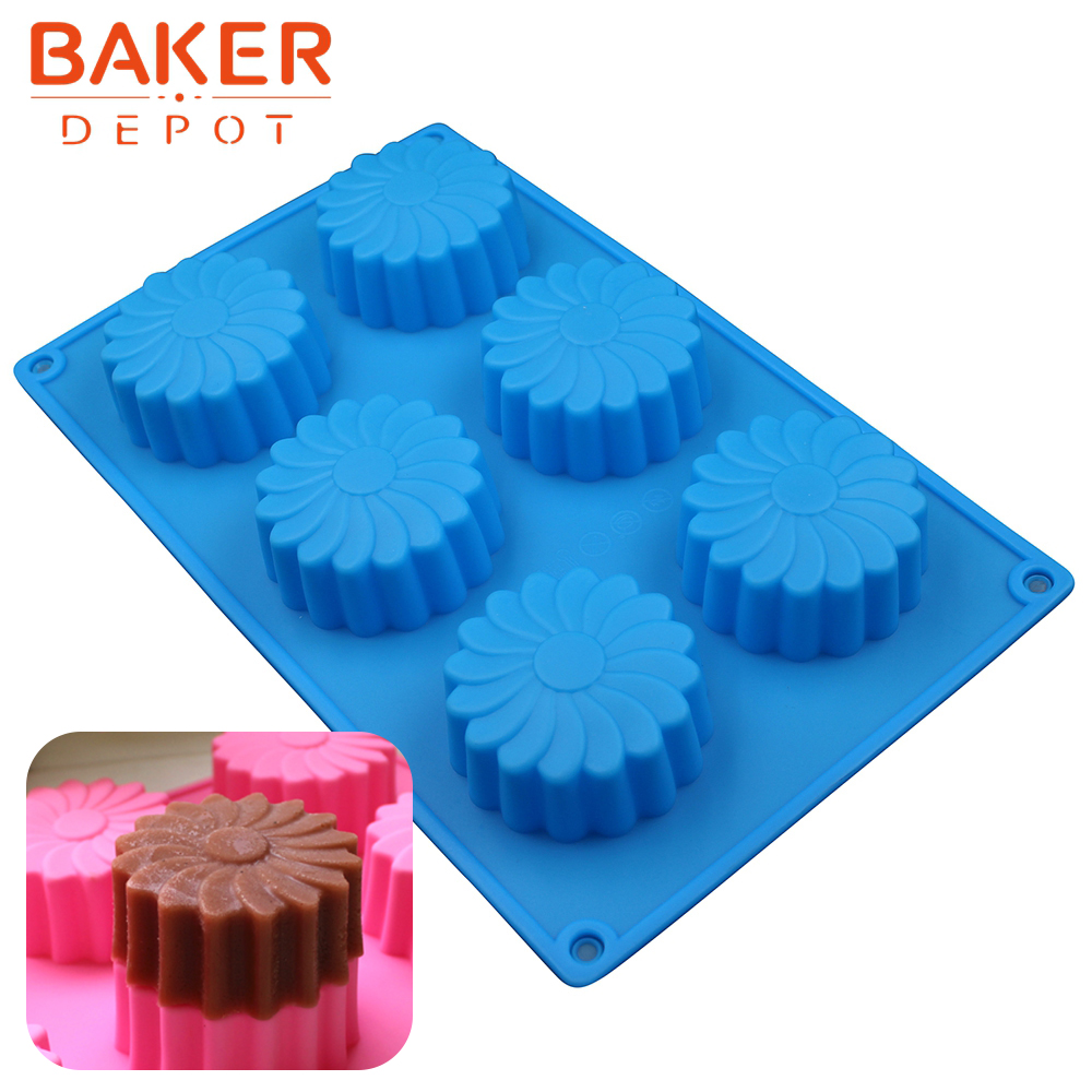 Baker DEPOT mullinjtë e erës Sapun silikoni me tortë silikoni myk - Kuzhinë, ngrënie dhe bar