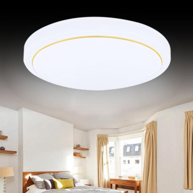 Interior LED acrylic circular ceiling lamp, bedroom living room creative lamp modern minimalist 9w led acrylic circular wall lights white living room bedroom bedside aisle creative ceiling lamp