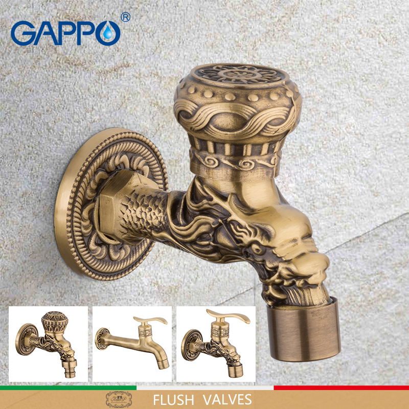 GAPPO Bibcocks wall mounted Brass Retro Tap Outdoor Garden Taps Luxury Washing Machine Mop WC Faucet outdoor faucet gardenGAPPO Bibcocks wall mounted Brass Retro Tap Outdoor Garden Taps Luxury Washing Machine Mop WC Faucet outdoor faucet garden
