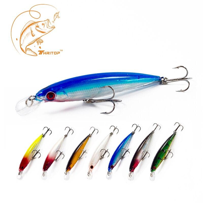 Thritop New Fishing Lure 11cm 13g, Hot ნივთი TP019 სხვადასხვა ფერები ვარიანტი თევზაობის სატყუარა Sharp Hook Luminous მინო
