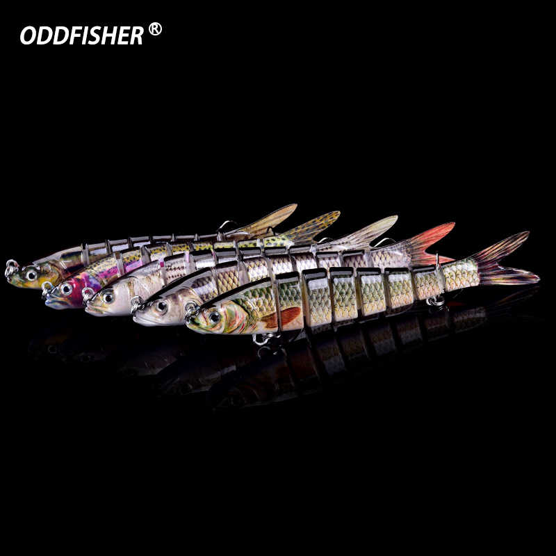 Wobblers Fishing 8 Segments Fishing Lures Multi Jointed Crankbait 27g Hard Bait Fishing Tackle For Bass Isca Lifelike Swimbait