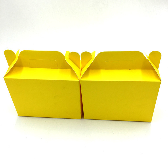 6pcslot solid color yellow theme candy box kids birthday party 6pcslot solid color yellow theme candy box kids birthday party favors gift boxes yellow negle Image collections