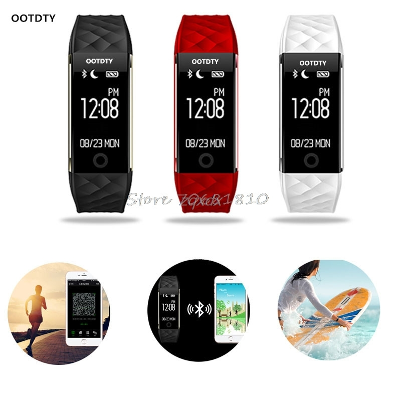 OOTDTY S2 Bluetooth 4.0 Smart Watch Fitness Heartrate Monitor Wristband for IOS Android Z07 Drop ship