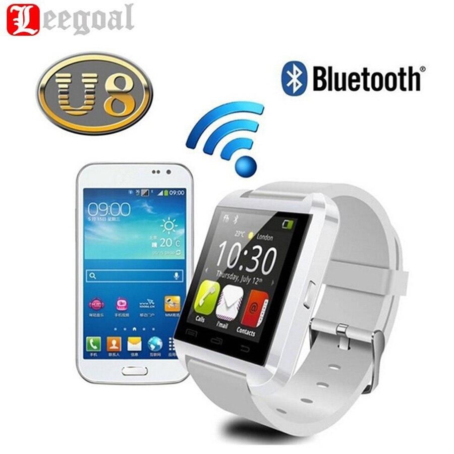 Original Bluetooth U8 Smart Watch Barometer Drink Clock Sport Bracelet Waterproof Passometer Wristwatch For IOS Android Phone