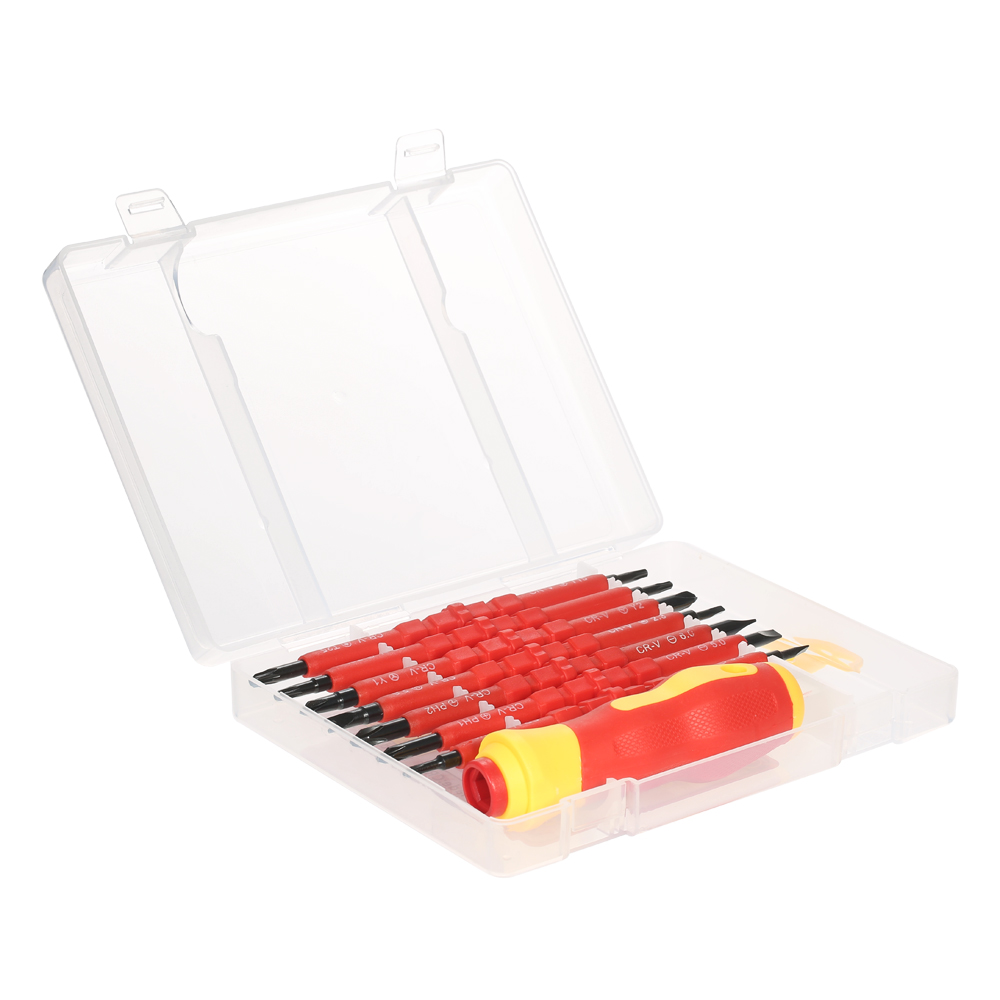 7 in 1 multitool 1000 v Veränderbar Isolierte Schraubendreher Set mit Magnetische Phillips und Schlitz Bits Elektriker hand Tools Kit